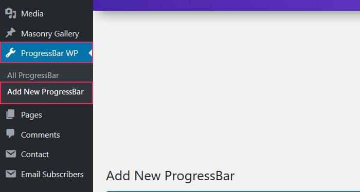 Add New Progress Bar
