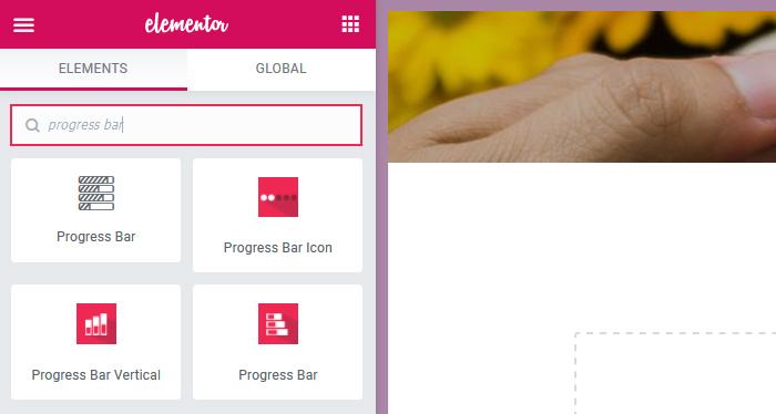 Elementor Progress Bar Search