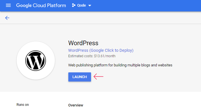 Google Cloud WordPress Launch