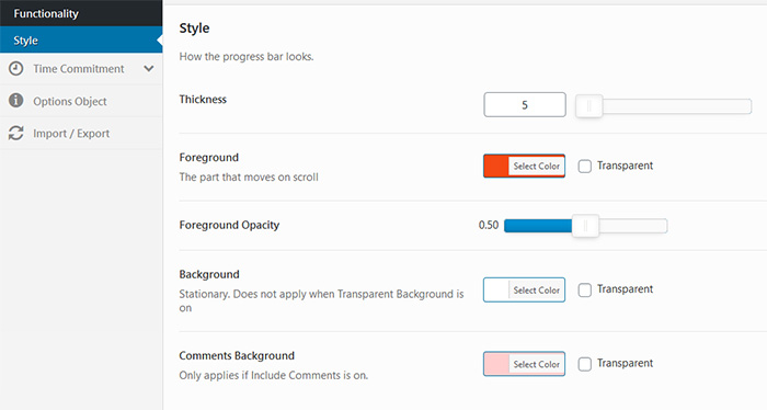 Progress Bar Shortcode Functionality