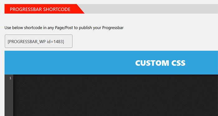 Progress Bar Shortcode