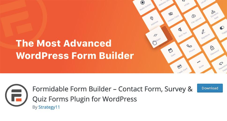 Formidable Form Builder