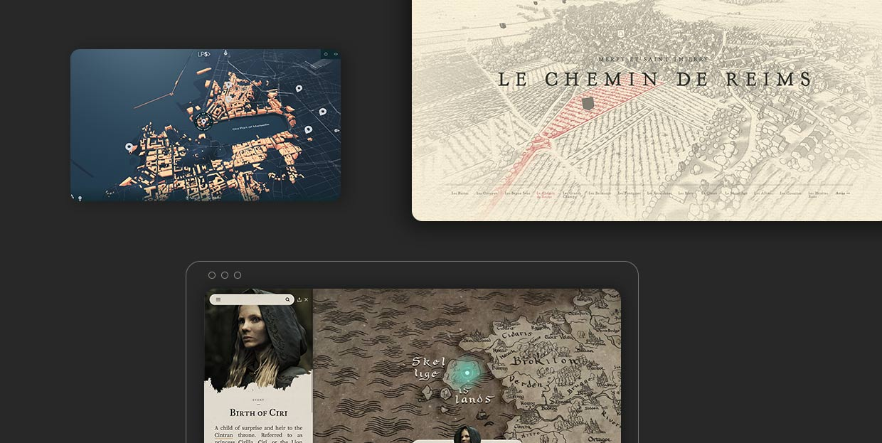 Inspiring Examples of Interactive Maps in Web Design