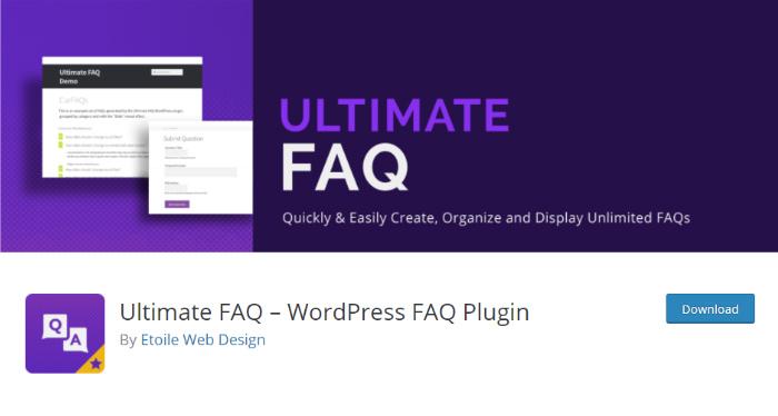 Ultimate FAQ plugin
