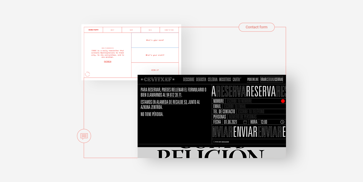 Examples of Innovative Contact Form Design