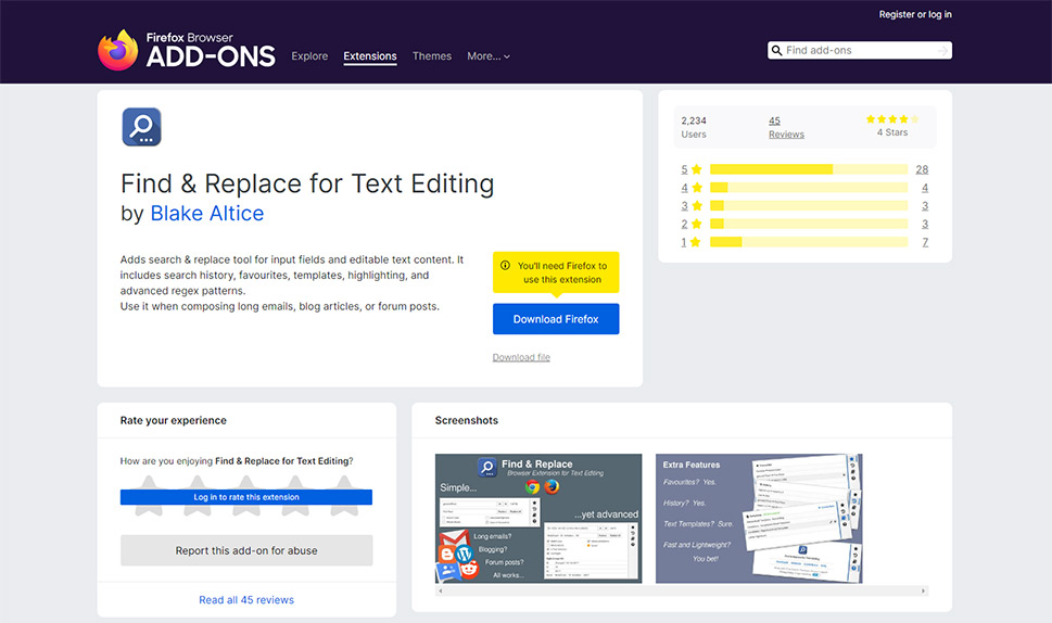 Find and Replace for Text Editing