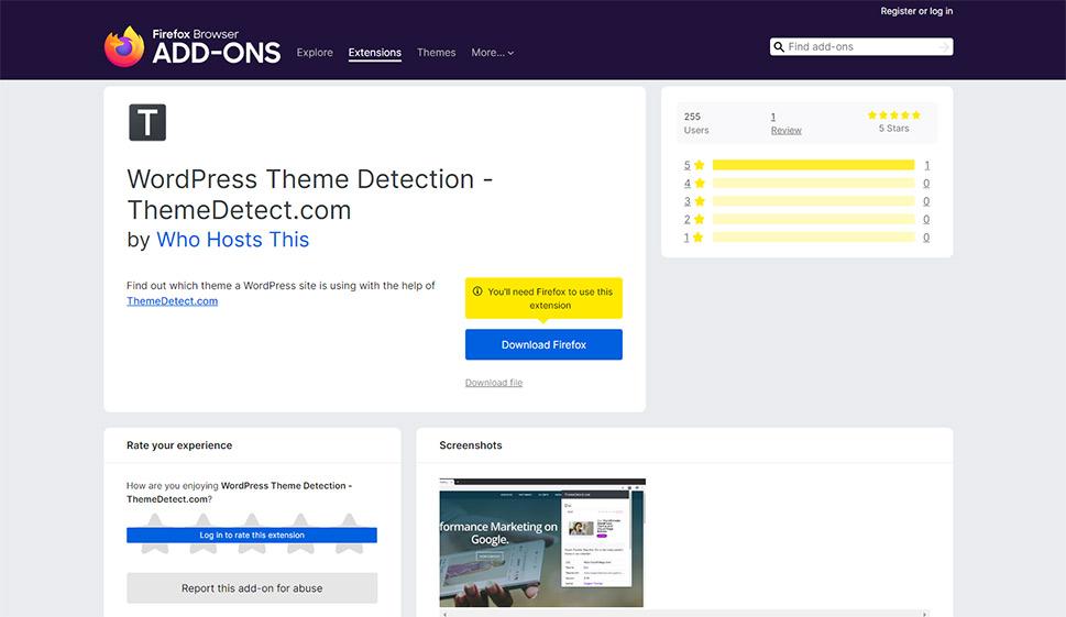 WordPress Theme Detection