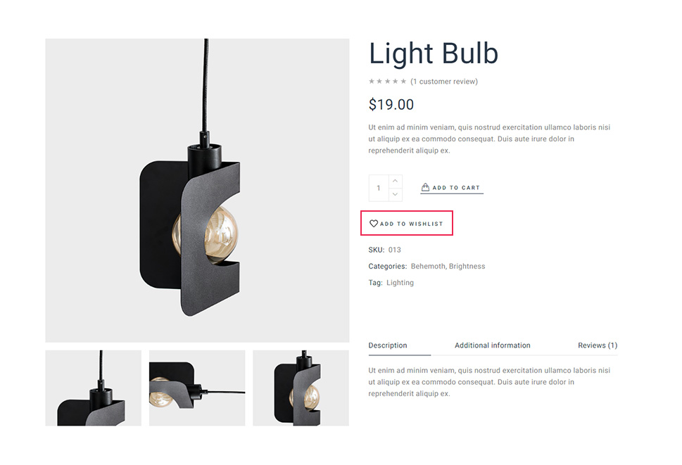 Add to Wishlist Button Product Single