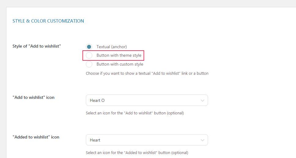Add to Wishlist Button Style