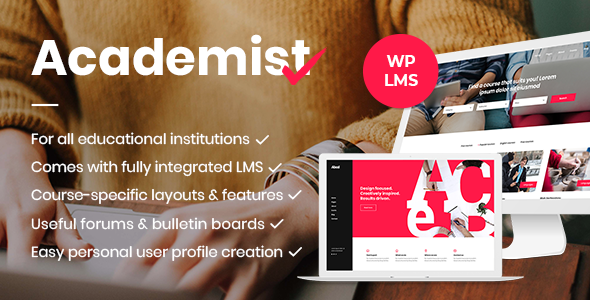 Academist – Modern Education and Learning Management System Theme