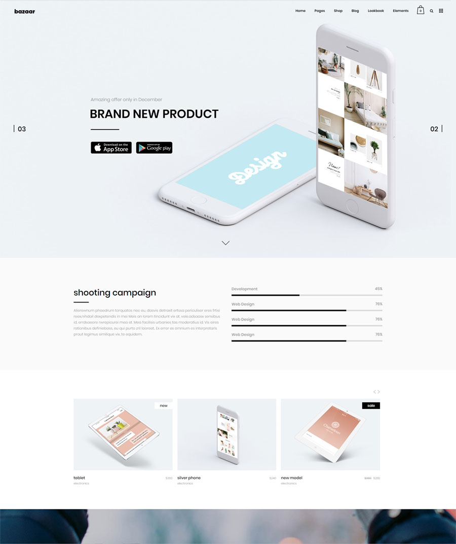 Bazaar – A Modern, Sharp eCommerce Theme – Qode Interactive