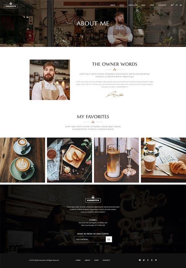 Corretto WordPress Theme