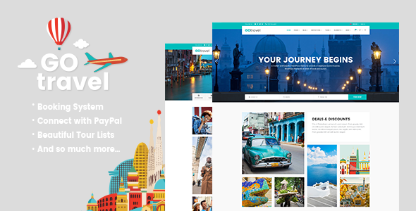 GoTravel - Travel Agency & Tourism Theme