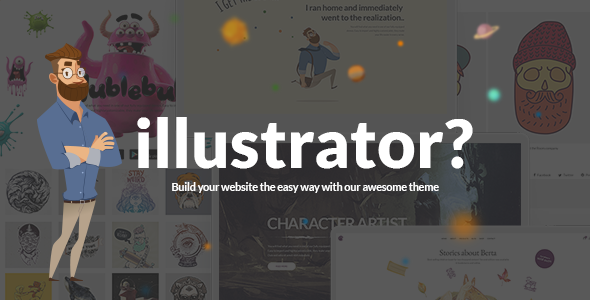 Illustrator Wordpress Theme