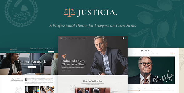 Justicia Wordpress Theme