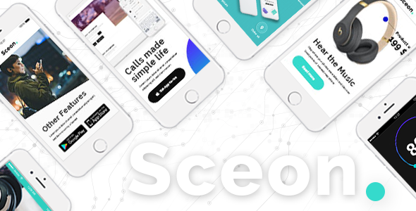 Sceon - App Landing Page & Startup Theme