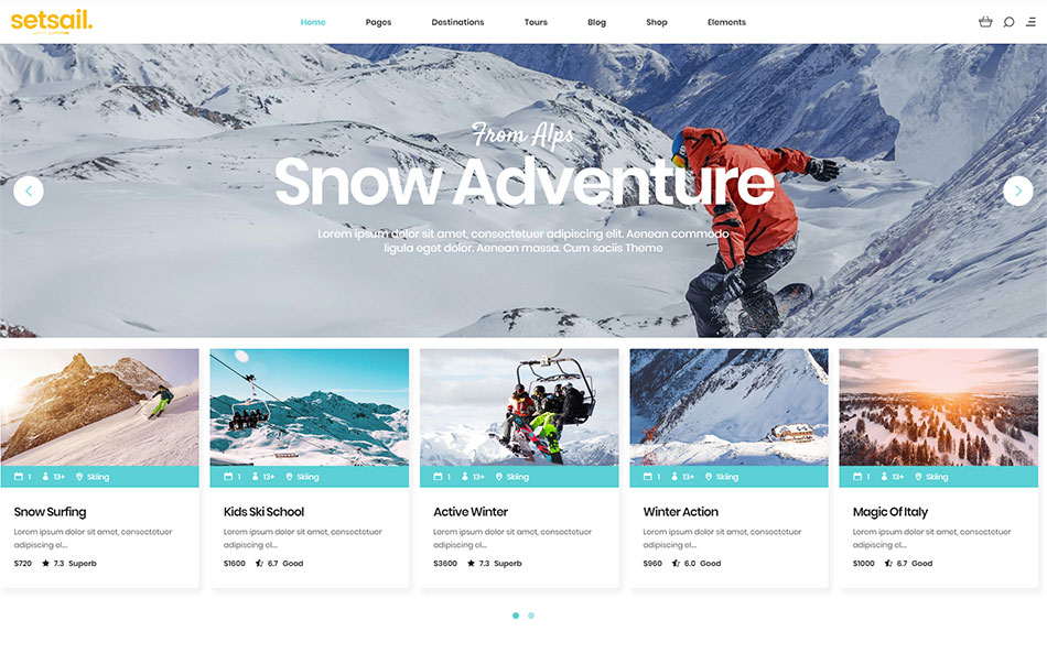 SetSail – Travel Agency Theme – Qode Interactive