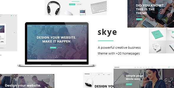 Skye - Contemporary Theme for Creative Business