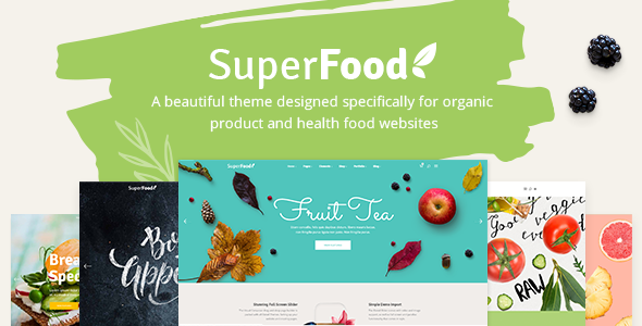 Superfood - Organic Food and Healthy Food Products Theme