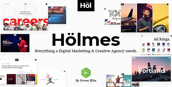 Holmes - Digital Agency Theme