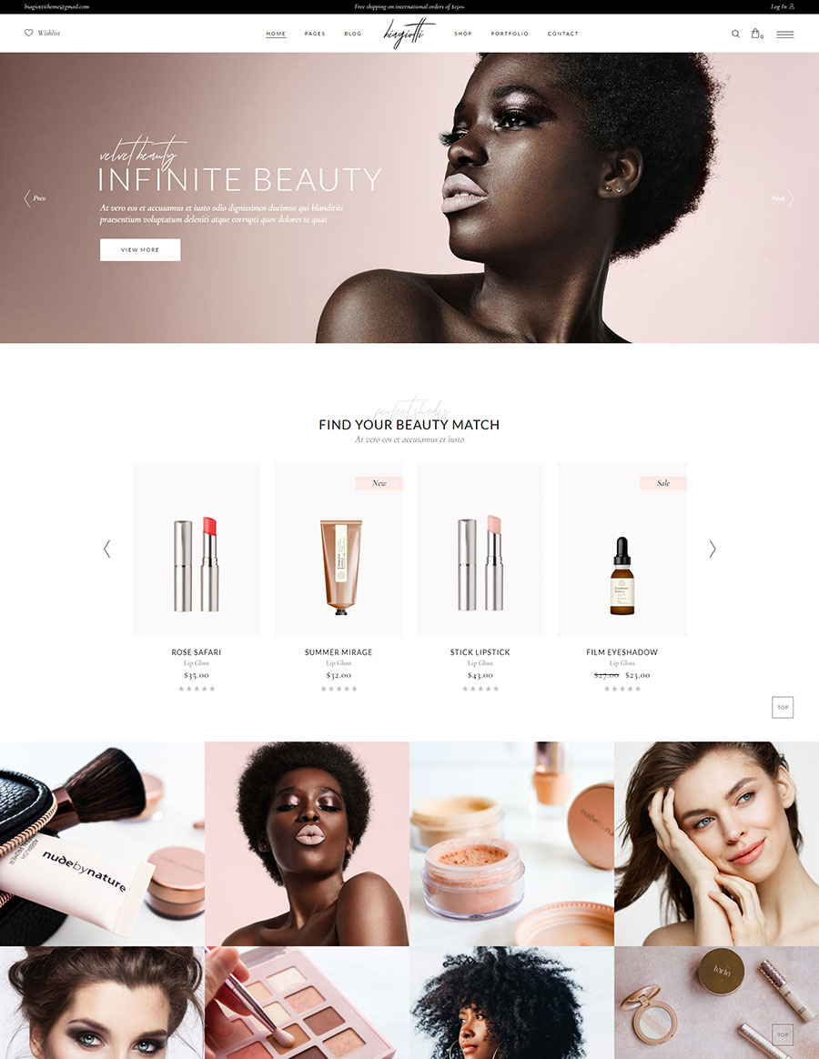 Biagiotti – Beauty and Cosmetics Shop – Qode Interactive