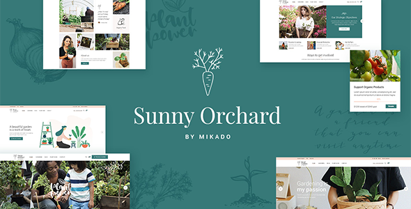Sunny Orchard - Landscaping and Gardening Theme