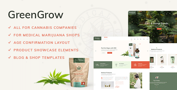 GreenGrow - Medical Marijuana Theme