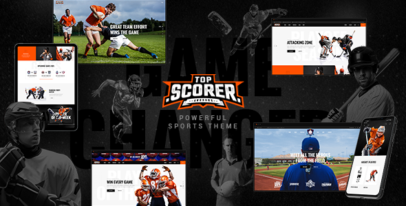 Top Scorer - Sports WordPress Theme