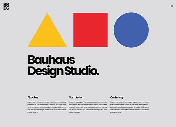 Bauhaus Bridge Theme Demo