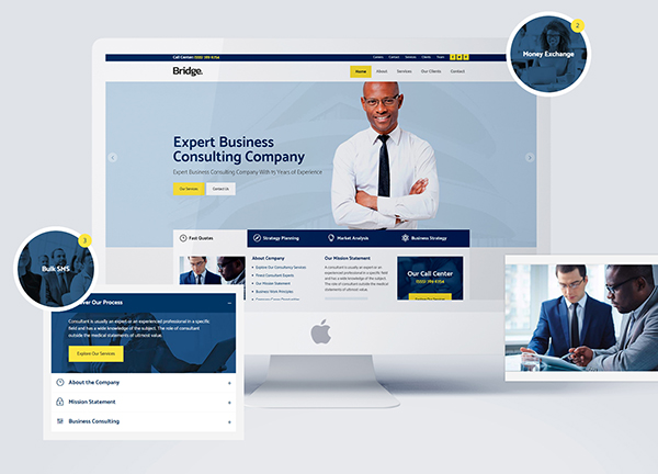 Business Consultant Bridge Theme Demo