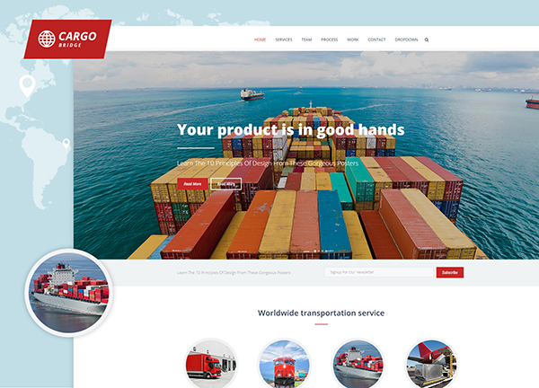 Cargo Bridge Theme Demo
