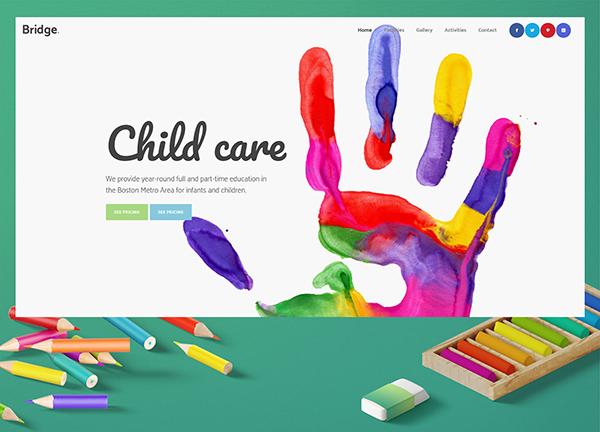Child Care Bridge Theme Demo