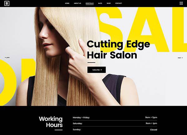 Hair Salon Bridge Theme Demo