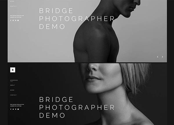 Modern Photography Bridge Theme Demo