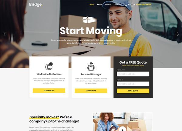 Moving Company Bridge Theme Demo