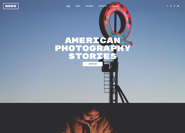 Photography Parallax Bridge Theme Demo