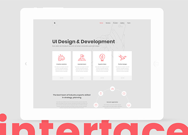 UI Design Company Bridge Theme Demo