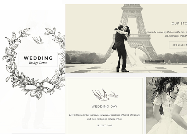 Wedding Bridge Theme Demo