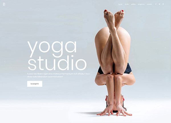 Yoga Studio Bridge Theme Demo