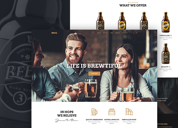 Craft Beer Bar Bridge Theme Demo