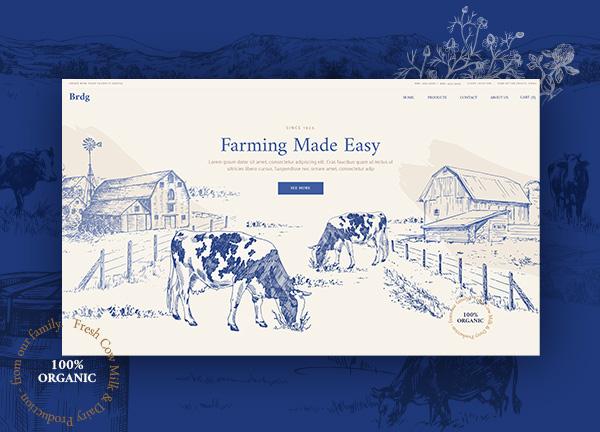 Dairy Farm Bridge Theme Demo