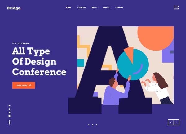 Design Conference Bridge Theme Demo