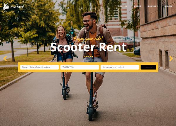 Electric Scooter Rental Bridge Theme Demo