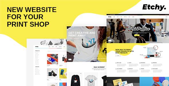 Etchy - Print Shop WordPress Theme
