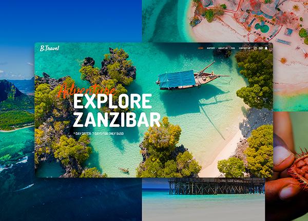 Exotic Travels Bridge Theme Demo