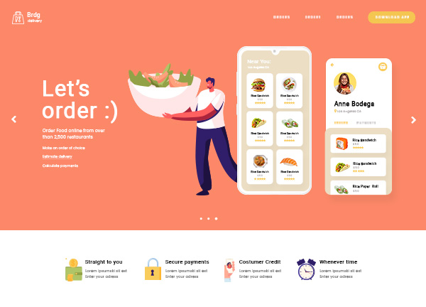 Food Delivery Bridge Theme Demo