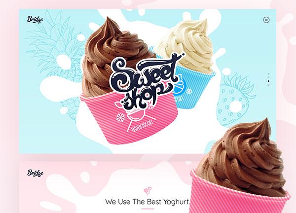 Frozen Yogurt Bridge Theme Demo