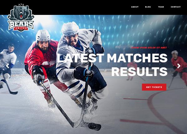 Ice Hockey Bridge Theme Demo