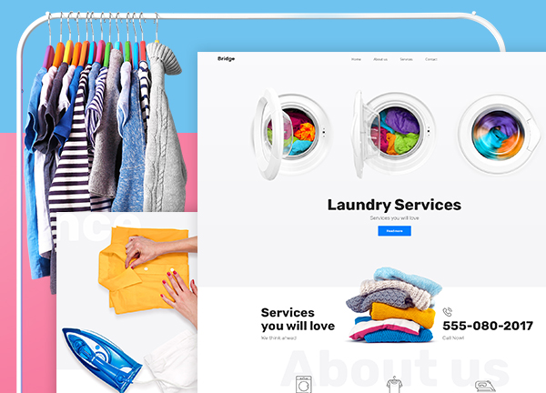 Laundry Service Bridge Theme Demo