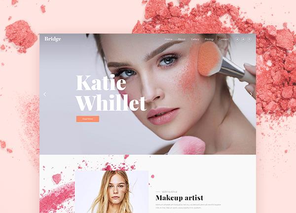 Makeup Artist Bridge Theme Demo